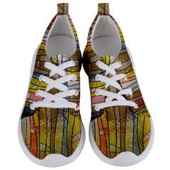 Stained Glass Window Colorful Women s Lightweight Sports Shoes