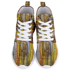Stained Glass Window Colorful Women s Lightweight High Top Sneakers