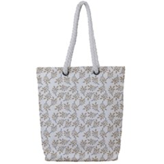 Just Leaves Full Print Rope Handle Tote (small) by TimelessFashion