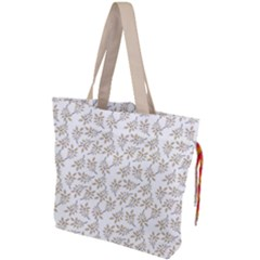 Just Leaves Drawstring Tote Bag by TimelessFashion