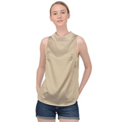 Just Squares High Neck Satin Top by TimelessFashion