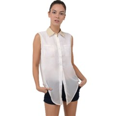 Marble Sleeveless Chiffon Button Shirt