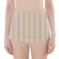 Nice Stripes  High Waisted Bikini Bottoms