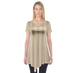 Nice Stripes  Short Sleeve Tunic  by TimelessFashion