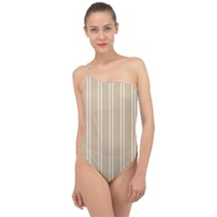 Nice Stripes  Classic One Shoulder Swimsuit by TimelessFashion