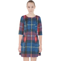 Blue & Red Plaid Pocket Dress by WensdaiAddamns