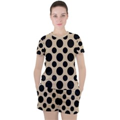 Polka Dots  Women s Tee And Shorts Set by TimelessFashion
