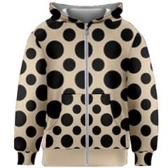 Polka Dots  Kids  Zipper Hoodie Without Drawstring