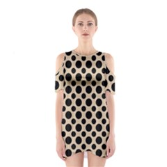 Polka Dots  Shoulder Cutout One Piece Dress by TimelessFashion