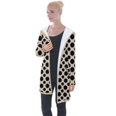 Polka Dots  Longline Hooded Cardigan by TimelessFashion
