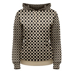 Polka Dots  Women s Pullover Hoodie by TimelessFashion
