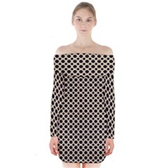 Polka Dots  Long Sleeve Off Shoulder Dress by TimelessFashion