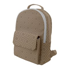 Simple Squares  Flap Pocket Backpack (large)