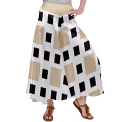 Squares On A Mission Satin Palazzo Pants by TimelessFashion
