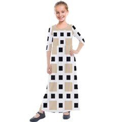 Squares On A Mission Kids  Quarter Sleeve Maxi Dress by TimelessFashion