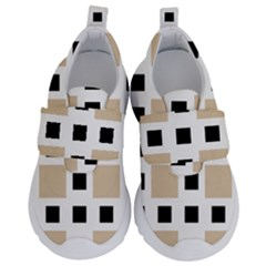 Squares On A Mission Kids  Velcro No Lace Shoes by TimelessFashion