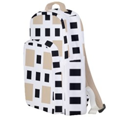 Squares On A Mission Double Compartment Backpack by TimelessFashion