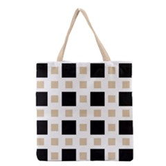 Squares On A Mission Grocery Tote Bag by TimelessFashion