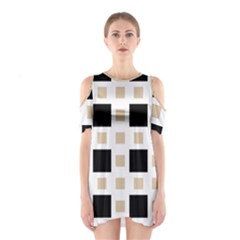 Squares On A Mission Shoulder Cutout One Piece Dress by TimelessFashion