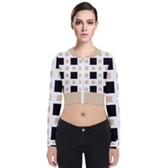 Squares On A Mission Long Sleeve Zip Up Bomber Jacket by TimelessFashion