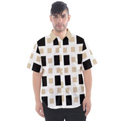Squares On A Mission Men s Short Sleeve Shirt