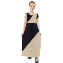 Two Triangles Kids  Short Sleeve Maxi Dress by TimelessFashion