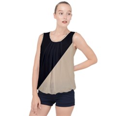 Two Triangles Bubble Hem Chiffon Tank Top by TimelessFashion