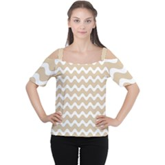 Waves  Cutout Shoulder Tee by TimelessFashion