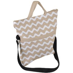 Waves  Fold Over Handle Tote Bag by TimelessFashion