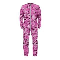 Pink Camouflage Army Military Girl Onepiece Jumpsuit (kids) by snek