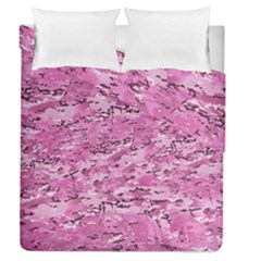 Pink Camouflage Army Military Girl Duvet Cover Double Side (queen Size)