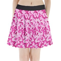 Standard Pink Camouflage Army Military Girl Funny Pattern Pleated Mini Skirt by snek