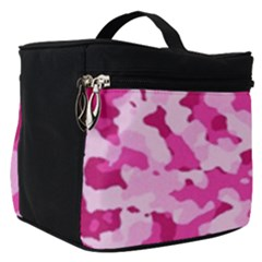 Standard Pink Camouflage Army Military Girl Funny Pattern Make Up Travel Bag (small) by snek