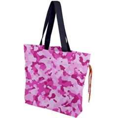 Standard Pink Camouflage Army Military Girl Funny Pattern Drawstring Tote Bag