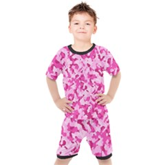 Standard Pink Camouflage Army Military Girl Funny Pattern Kid s Set by snek