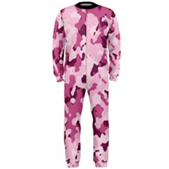 Standard Violet Pink Camouflage Army Military Girl Onepiece Jumpsuit (men)  by snek