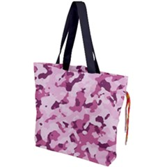 Standard Violet Pink Camouflage Army Military Girl Drawstring Tote Bag