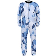 Standard Light Blue Camouflage Army Military Onepiece Jumpsuit (men)  by snek