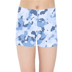 Standard Light Blue Camouflage Army Military Kids  Sports Shorts