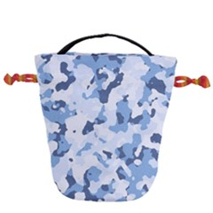 Standard Light Blue Camouflage Army Military Drawstring Bucket Bag