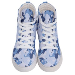 Standard Light Blue Camouflage Army Military Men s Hi Top Skate Sneakers