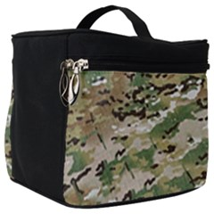 Wood Camouflage Military Army Green Khaki Pattern Make Up Travel Bag (big) by snek