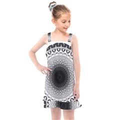 Mandala Calming Coloring Page Kids  Overall Dress by Pakrebo