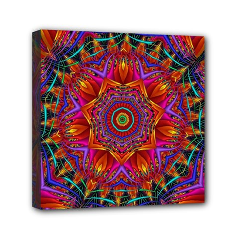 Kaleidoscope Pattern Ornament Mini Canvas 6  X 6  (stretched) by Pakrebo