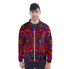 Kaleidoscope Pattern Ornament Windbreaker (men)