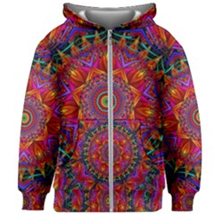 Kaleidoscope Pattern Ornament Kids  Zipper Hoodie Without Drawstring by Pakrebo