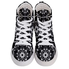 Kaleidoscope Mandala Art Women s Hi Top Skate Sneakers
