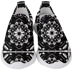 Kaleidoscope Mandala Art Kids  Slip On Sneakers