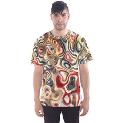 Abstract Background Pattern Art Men s Sports Mesh Tee