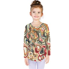 Abstract Background Pattern Art Kids  Long Sleeve Tee